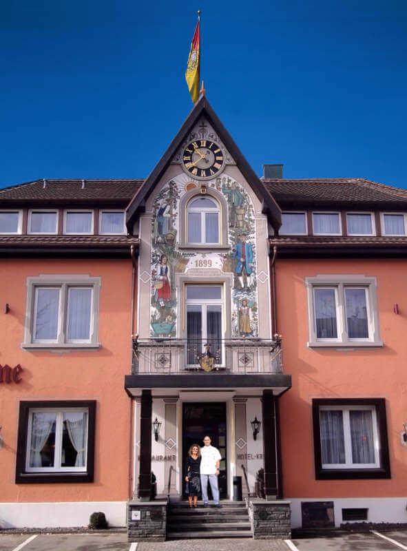 Fassade Hotel Krone Rielasingen