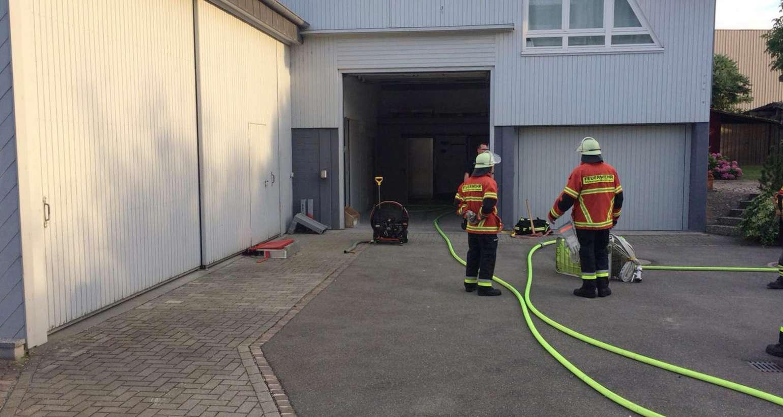 Feuerwehrprobe auf unserem Geschäftsgelände